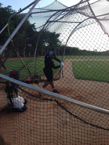 Yasmany Tomas takes BP in the DR